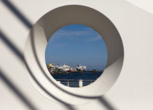 Dublin Harbor Through Circle Royalty Free Stock Photo