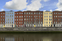 Dublin Houses. Houses in Dublin, Ireland by the river Liffey Stock Photography