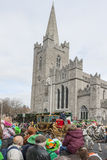 DUBLIN, IERLAND - MAART 17: De Dagparade van heilige Patrick in Dublin Royalty-vrije Stock Foto