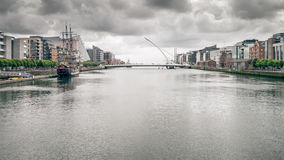 Dublin. An image of Dublin Ireland with bad weather Royalty Free Stock Photos