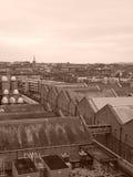 Dublin Industrial Disctrict in Schwarzweiss Lizenzfreie Stockfotografie