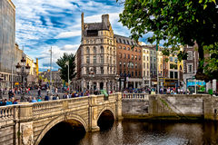 Dublin Ireland. A view across the The Liffey in the fair city of Dublin, Ireland royalty free stock photos