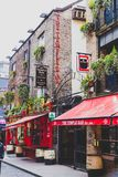 The Temple Bar pub in Dublin, arguably the most popular traditio. DUBLIN, IRELAND - April 12th, 2018: the Temple Bar pub in Dublin, arguably the most popular Stock Photo