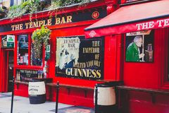 The Temple Bar pub in Dublin, arguably the most popular traditio. DUBLIN, IRELAND - April 12th, 2018: the Temple Bar pub in Dublin, arguably the most popular Stock Photography