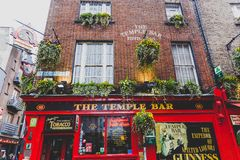 The Temple Bar pub in Dublin, arguably the most popular traditio. DUBLIN, IRELAND - April 12th, 2018: the Temple Bar pub in Dublin, arguably the most popular Royalty Free Stock Photo