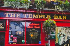The Temple Bar pub in Dublin, arguably the most popular traditio. DUBLIN, IRELAND - April 12th, 2018: the Temple Bar pub in Dublin, arguably the most popular Stock Image