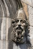 Closeup of bishop head at The Castle, Dublin Ireland. Stock Photo
