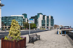 DUBLIN Ireland - August 2, 2015: Ireland's International Financi Royalty Free Stock Photo