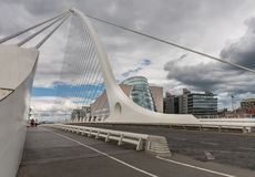 Samuel Beckett Bridge and Convention Center, Dublin Ireland. Royalty Free Stock Photos
