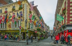 Gogarty Restaurant and Bar in Dublin is a popular with locals and tourists Royalty Free Stock Photo