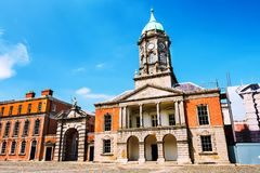 Dublin castle hall during the sunny day, Ireland. Dublin, Ireland. Dublin castle hall during the sunny day. Popular landmark in the capital of Ireland Royalty Free Stock Images
