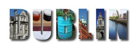 Dublin Ireland collage stock photos