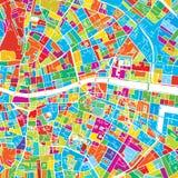 Dublin, Ireland, Colorful Vector Map Stock Photos