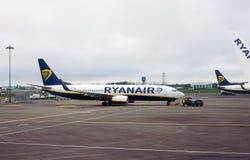 Ryanair plane royalty free stock images