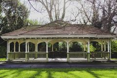 Detail of St Stephen`s Green park in Dublin city centre featurin Royalty Free Stock Photo