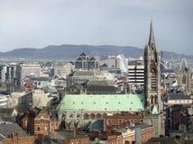 Dublin in Ireland. High angle view of Dublin, the capital city of Ireland Royalty Free Stock Photo