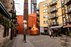 Old Jameson Distillery, Dublin. DUBLIN, IRELAND - JULY 12, 2016: Entrance to the Old Jameson Distillery, Smithfield Square in Dublin, Ireland. The original site royalty free stock photography