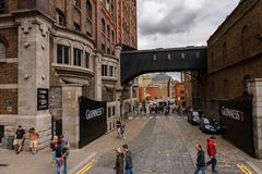 Guinness Brewery, Ireland. DUBLIN, IRELAND - JULY 12, 2016: Guinness Brewery. Guinness is an Irish dry stout produced by Diageo originated in the brewery of Stock Images