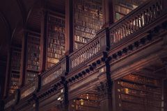 DUBLIN, IRELAND - JULY 14, 2018: The Long Room in the Trinity C. Ollege Library on July 14, 2018 in Dublin, Ireland Royalty Free Stock Images