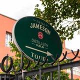 Old Jameson Distillery, Dublin. DUBLIN, IRELAND - JULY 12, 2016: Near the Old Jameson Distillery, Smithfield Square in Dublin, Ireland. The original site where stock photo
