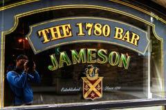 Old Jameson Distillery, Dublin. DUBLIN, IRELAND - JULY 12, 2016: Near the Old Jameson Distillery, Smithfield Square in Dublin, Ireland. The original site where stock image