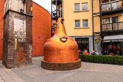 Old Jameson Distillery, Dublin. DUBLIN, IRELAND - JULY 12, 2016: Old Jameson Distillery, Smithfield Square in Dublin, Ireland. The original site where Jameson royalty free stock photos