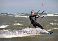 Kitesurfing in Dublin stock photos