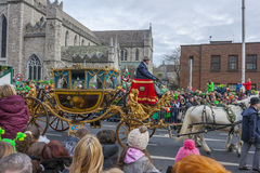 DUBLIN, IRELAND - MARCH 17: Saint Patrick's Day parade in Dublin Stock Images