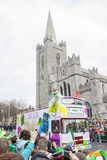DUBLIN, IRELAND - MARCH 17: Saint Patrick's Day parade in Dublin Royalty Free Stock Photography