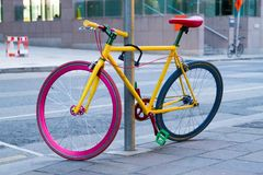 Dublin Google colorful bicycle royalty free stock photo