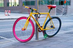 Dublin Google colorful bicycle stock photography