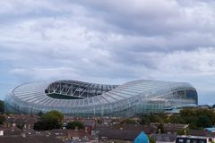 View of Aviva stadium in Dublin city stock image
