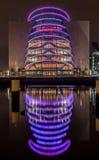 Dublin Ireland River Liffey bij Nacht Royalty-vrije Stock Foto