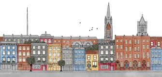 Dublin, Ireland - seamless banner of Dublin's skyline Stock Photo