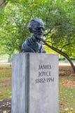 The bronze bust of James Joyce, Dublin, Ireland stock photography