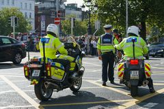 Garda - Irish police officers Stock Image