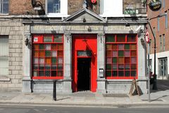 The O Reilly Bros Bar in Dublin. DUBLIN, IRELAND - SEPTEMBER 5, 2016: The O Reilly Bros Bar on September 5, 2016 in Dublin. The O Reilly Bros Bar is a famous Royalty Free Stock Photo