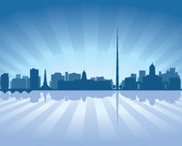 Dublin, Ireland skyline. Dublin, Ireland  skyline illustration with reflection in water Royalty Free Stock Image