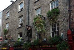 Dublin, Ireland - 9-14-2016: The Temple Bar in Dublin Ireland. Dublin, Ireland - 9-14-2016: The Temple Bar exterior in Dublin Ireland Royalty Free Stock Photo