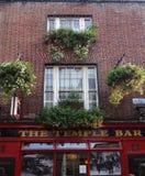 Dublin, Ireland - 9-14-2016: The Temple Bar in Dublin Ireland. Dublin, Ireland - 9-14-2016: The Temple Bar exterior in Dublin Ireland Royalty Free Stock Images