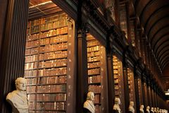 Old Library in Trinity College, Dublin. royalty free stock images
