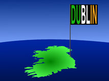Dublin on Irish map Stock Image