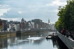 DUBLIN, IRLAND - 31. AUGUST 2017: Stadt von Dublin Ireland Lizenzfreies Stockfoto
