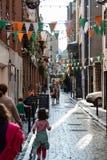 DUBLIN, IRLAND - 31. AUGUST 2017: Stadt von Dublin Ireland Stockfoto