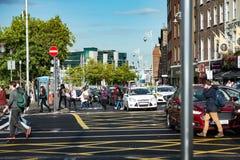 DUBLIN, IRLAND - 31. AUGUST 2017: Stadt von Dublin Ireland Lizenzfreie Stockbilder