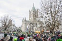 DUBLIN, IRLAND - 17. MÄRZ: St Patrick Tagesparade in Dublin Lizenzfreies Stockfoto