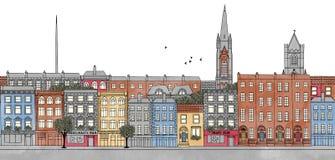 Dublin Irland - sömlöst baner av Dublin horisont vektor illustrationer