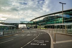 Dublin, Irlande - 20 mai 2018 : Dublin Airport Terminal 2 construit Image stock