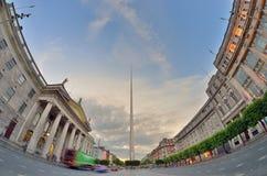 Dublin, Irlandia centrum symbol - iglica obrazy royalty free