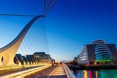 Dublin Irlandia Samuel Beckett most zdjęcia royalty free